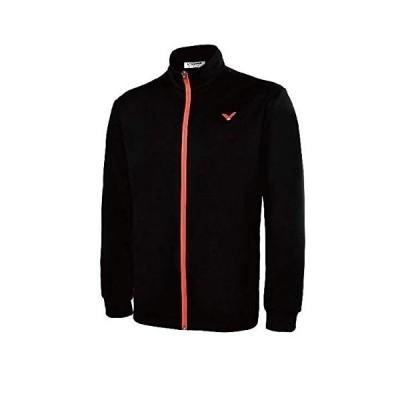 VICTOR バドミントンウェア UNI ウォームアップシャツ J-75609 (XXL, オレンジ)