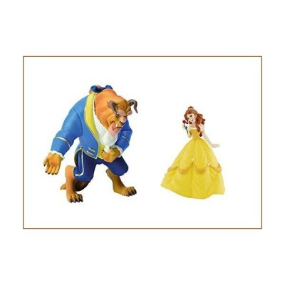 Disney Beauty and The Beast Princess Belle and Beast Birthday Party Cake Toppers【並行輸入品】
