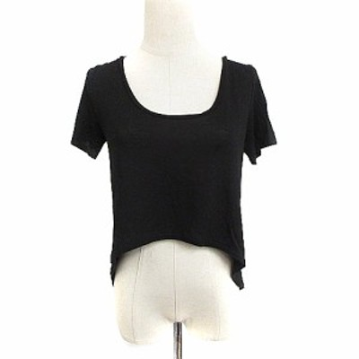 【中古】ルシェルブルー LE CIEL BLEU Tシャツ カットソー 半袖 麻 リネン 38 黒 ブラック /AAM12 レディース