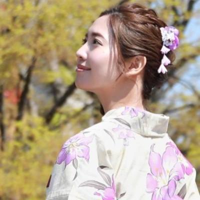 「なでしこ」日本製 浴衣 髪飾り クリップ「ぶら下がり付き古典柄髪飾り」花 ちりめん 大人 ヘアアクセサリー 浴衣用ヘアーアクセサリー