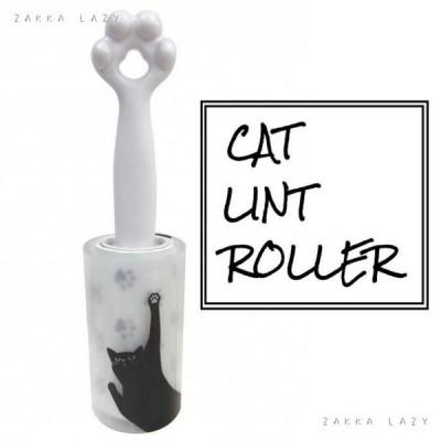 掃除 猫 ペット 「ハンディ粘着クリーナー キャット ホワイト」