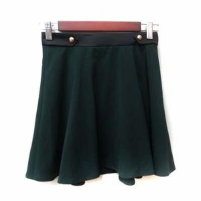 【中古】ラブレス LOVELESS フレアスカート ミニ 34 緑 グリーン /YI レディース