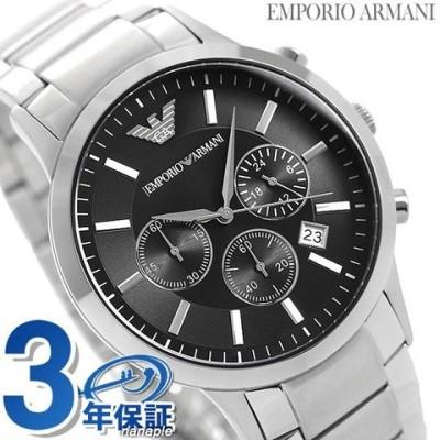 エンポリオアルマーニ 時計 メンズ クロノグラフ EMPORIO ARMANI アルマーニ 腕時計 レナト 43mm AR2434 ブラック