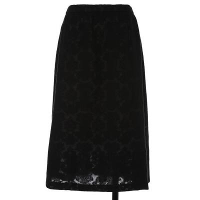 ef-de L / エフデ(エルサイズ) 《大きいサイズ》フレアロングスカート《Maglie White》