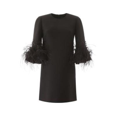 VALENTINO/バレンチノ ドレス NERO Valentino short dress with feathers レディース TB0VARY71CF ik