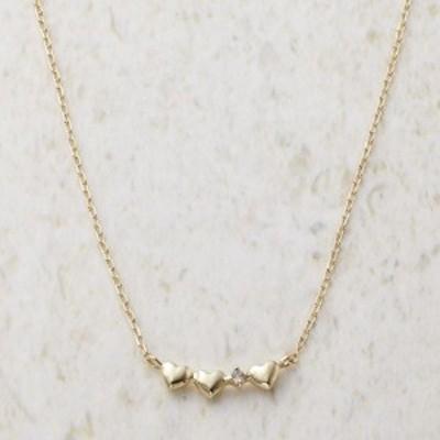 ルーシールーシー ダイヤモンド トリプルハートネックレス(日本製 ジュエリー アクセサリー)(内祝い 出産内祝い 結婚内祝い ギフト 引き