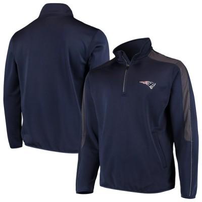 ニューイングランド・ペイトリオッツ G-III Sports by Carl Banks I Formation Quarter-Zip Pullover ジャケット - Navy
