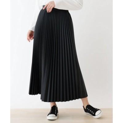 スカート 【S-L】エコレザープリーツスカート