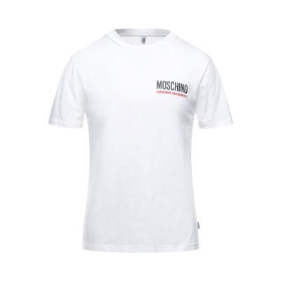 モスキーノ MOSCHINO アンダーTシャツ ホワイト XS コットン 100% アンダーTシャツ