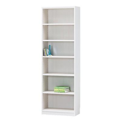 フリーラック タナリオ TNL-1859 WH 小物や書籍 書類などの整理に 幅59cm 高さ180cm ホワイト 白木目 組立宅配可 組立設置可