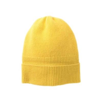 ポートラノ レディース 帽子 アクセサリー Cashmere Rib Hat SULFUR