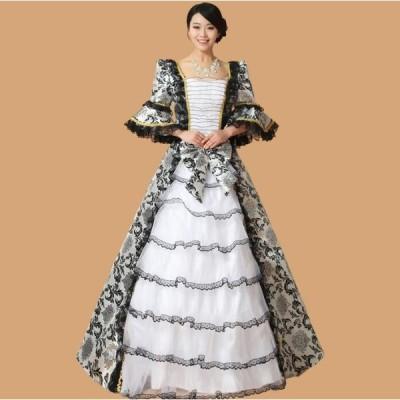 カラードレス 演奏会 安い 長袖 ヨーロッパ 宮廷服 プリンセス 貴族風 コスプレ衣装 パーティードレス 披露宴 ステージ衣装 ウェディングドレス 洋風ドレス