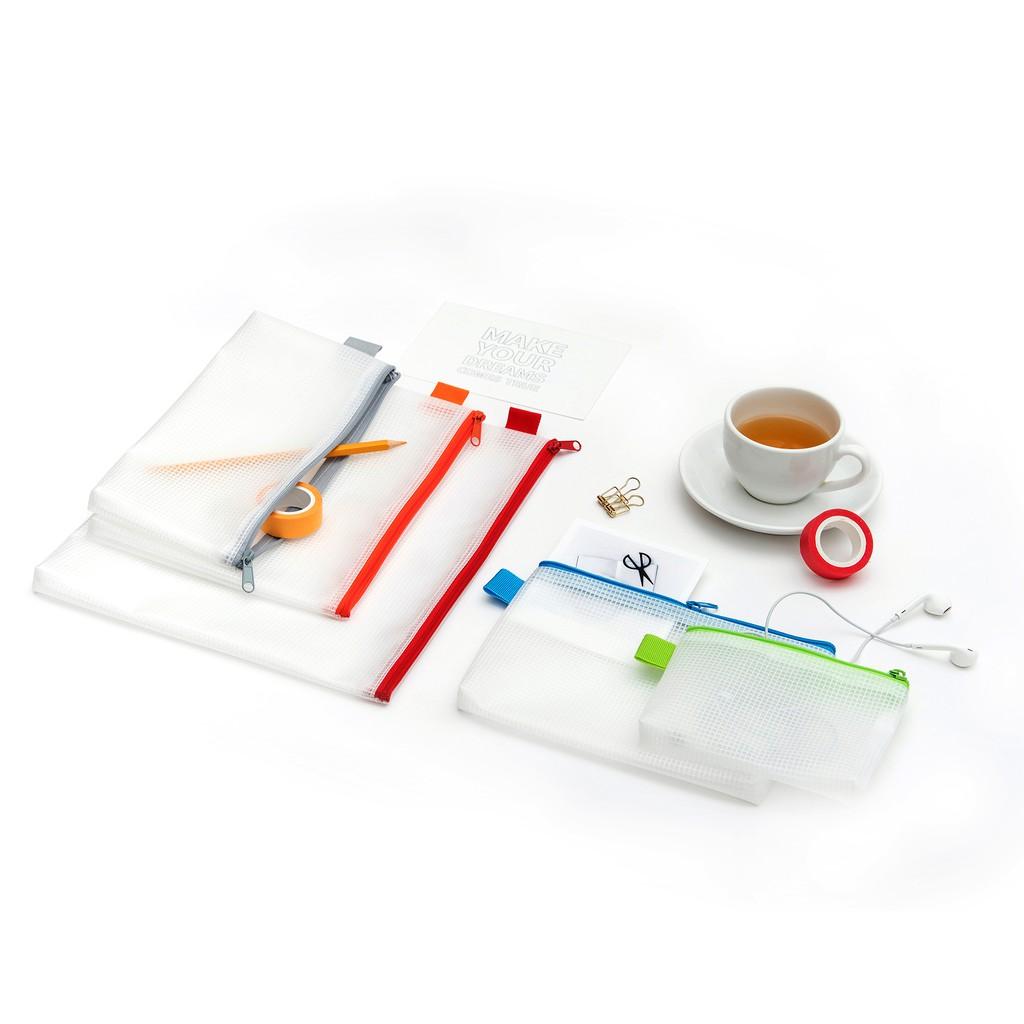 連勤 PEVA無毒環保網狀拉鍊袋(A4)/LCM-A4