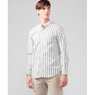 【トゥモローランド】 ブリティッシュポプリン クレリックバンドカラーシャツ メンズ 54グリーン系 XS TOMORROWLAND