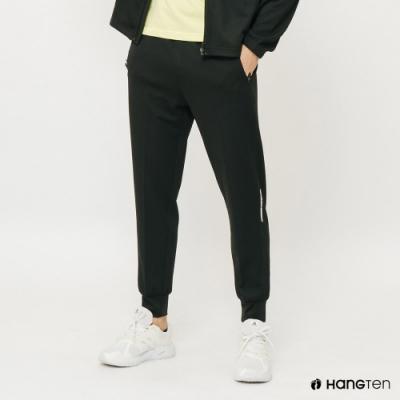 Hang Ten-ThermoContro-男裝反光印字機能休閒束口褲-黑
