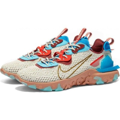 ナイキ Nike メンズ スニーカー シューズ・靴 React Vision Light Bone/Blue/Red