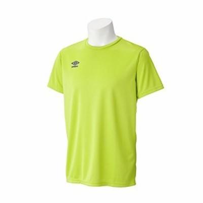 アンブロ(UMBRO) ワンポイント C ネックシャツ UCS7554 RLIM Rライム O