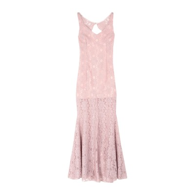 TRY ME ロングワンピース&ドレス ピンク 38 ポリエステル 100% ロングワンピース&ドレス