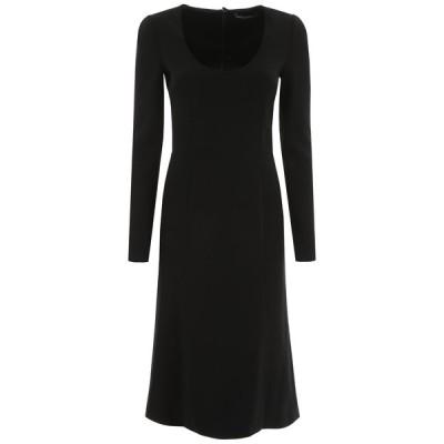ドルチェ&ガッバーナ レディース ワンピース トップス Dolce & Gabbana Scoop Neck Midi Dress -