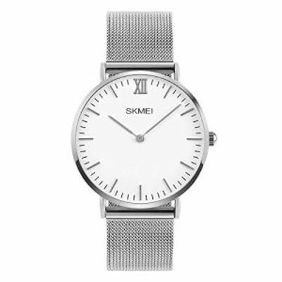 SKMEI Couple Watches Japanese Quartz Movement 30?m防水亜鉛合金ストラップカジュアル腕時計