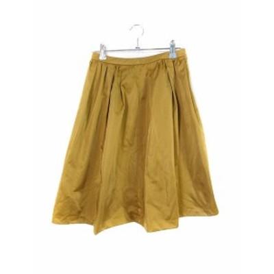 【中古】スピック&スパン ノーブル Spick&Span Noble スカート フレア ミモレ丈 無地 34 ベージュ /M2 レディース