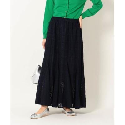 SHIPS for women/シップスウィメン SHIPS any:ニットレーススカート ネイビー ONE SIZE