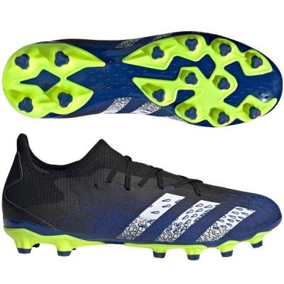 アディダス サッカー 固定式スパイク プレデター フリーク .3 L HG/AG コアブラック×フットウェアホワイト×チームロイヤルブルー adidas FZ3705