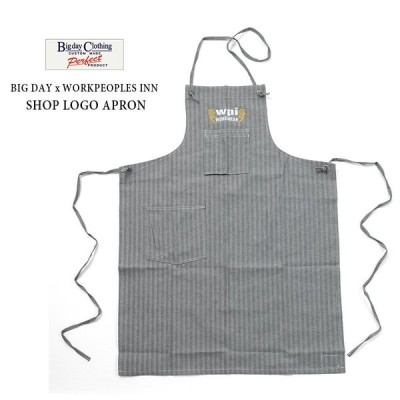 WORKERS BIG DAY × WORKPEOPLES INN SHOP LOGO APRON エプロン ショップエプロン
