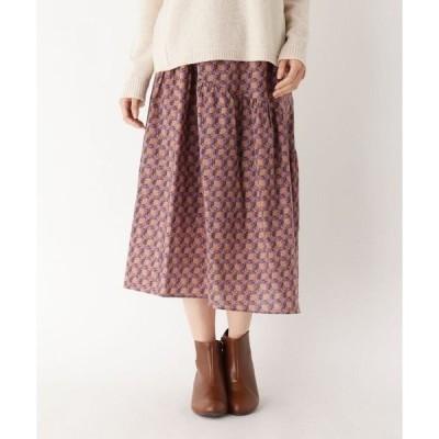 Airpapel / エアパペル 【ハンドウォッシュ】イヴェールフラワープリントスカート