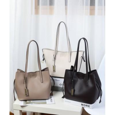 (UNGRID bag/アングリッド バッグ)ライトグレインミディアム巾着トート(M)/レディース BEG