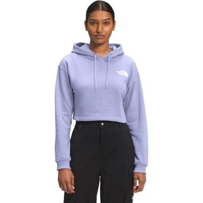 (取寄)ノースフェイス ロゴ クロップ ドロップ フーディ - レディース The North Face Logo Crop Drop Hoodie - Women's Sweet Lavender