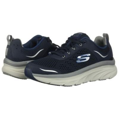 スケッチャーズ SKECHERS メンズ スニーカー シューズ・靴 D'Lux Walker Navy/Gray