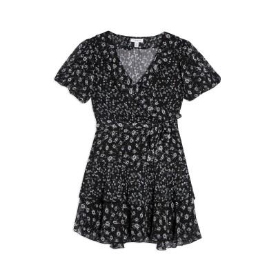 トップショップ TOPSHOP ミニワンピース&ドレス ブラック 14 ポリエステル 100% ミニワンピース&ドレス