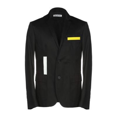 ビッケンバーグ BIKKEMBERGS テーラードジャケット ブラック 54 100% コットン テーラードジャケット