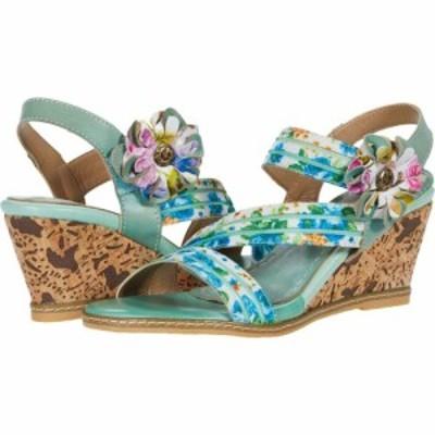 スプリングステップ LArtiste by Spring Step レディース サンダル・ミュール シューズ・靴 Landy Sky Blue Multi