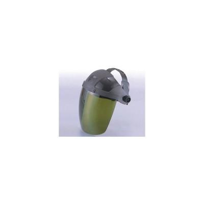 トーヨーセフティー セフティーIR 3次元曲面レンズフェースシールド 直被型(グリーン) No.1170-G