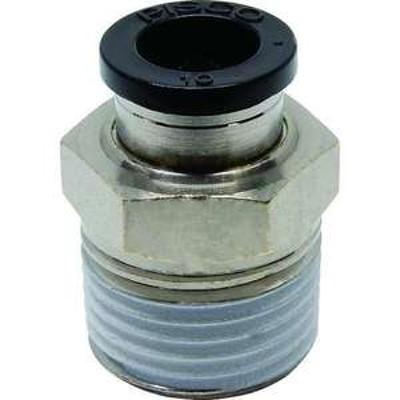 ピスコ チューブフィッティング ストレート 適合外径10mm 接続口径R1/2 (品番:PC10-04)『2909651』