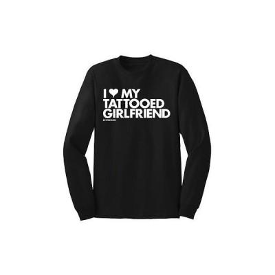 Tシャツ メンズ 海外セレクション Men's DPCTED I Heart My Tattooed Girlfriend T-Shirt Black Ink Inked Tattoo