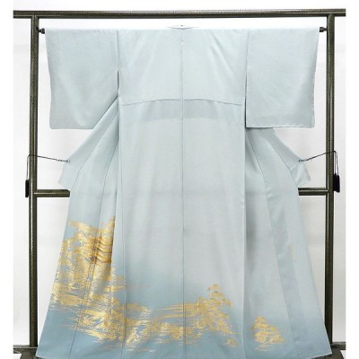 色留袖 未着用美品 正絹 金彩友禅 和田光正作 身丈159.5cm 裄丈64.5cm 色留袖 一つ紋 未使用 新古品 着物