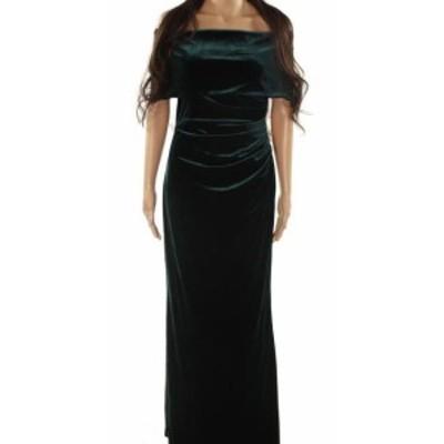 Vince ヴィンス ファッション ドレス Vince Camuto NEW Green Womens Size 8 Velvet Off Shoulder Gown
