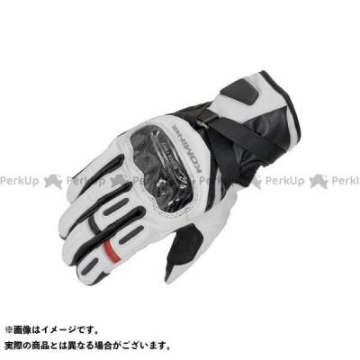【無料雑誌付き】コミネ 2020-2021秋冬モデル GK-844 プロテクトウインドプルーフレザーグローブHG(ライトグレー/ブラック) サイズ:…