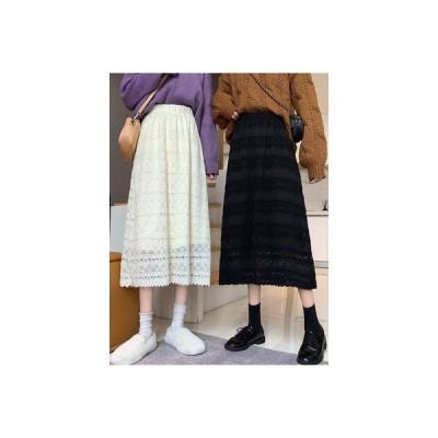 【送料無料】秋冬 何でも似合う スカート ハイウエスト レース スカートと長いセクシ | 346770_A64194-2926876