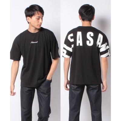 【ウィゴー】WEGO/ストレートラインビッグシルエット5分袖Tシャツ