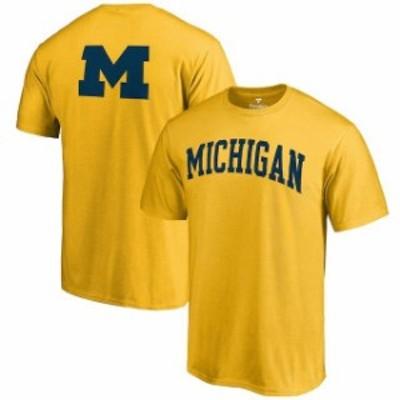 Fanatics Branded ファナティクス ブランド スポーツ用品  Michigan Wolverines Gold Primetime T-Shirt