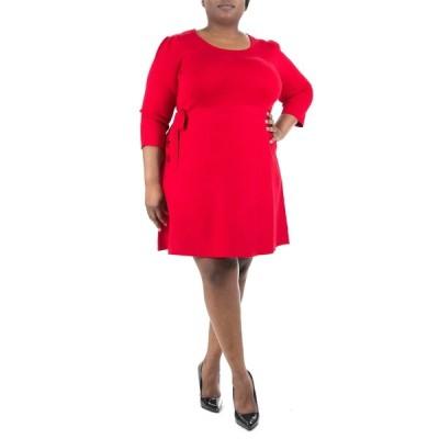 ニナレオナルド レディース ワンピース トップス Sweater Dress NINA RED