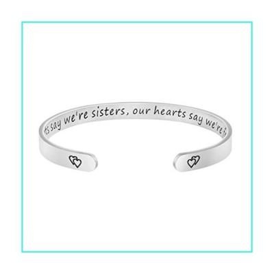 【新品】Joycuff Gift for Sister Women Best Friend Bracelet BFF Jewelry Our Roots Say We are Sisters, Our Hearts Say We are Friends.(並行輸入