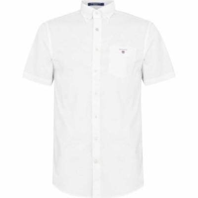 ガント Gant メンズ シャツ トップス Broadcloth Shirt White