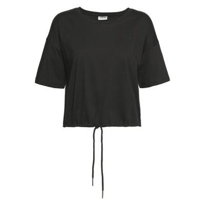 ノイジーメイ Tシャツ レディース トップス NMDURU LOOSE STRING - Print T-shirt - black