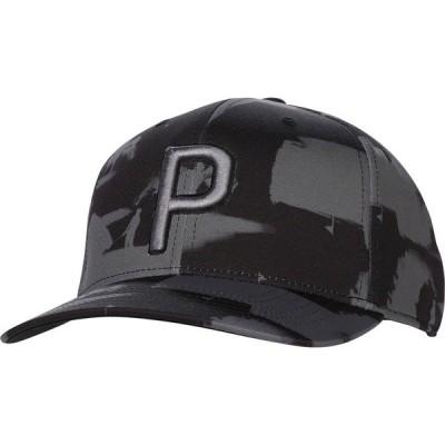 プーマ 帽子 アクセサリー メンズ PUMA Men's P 110 Paint Pattern Snapback Golf Hat TrueBlue