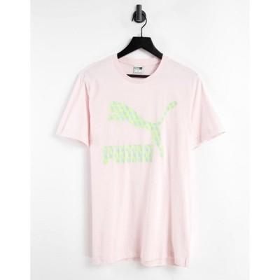 プーマ Puma メンズ Tシャツ トップス Summer Luxe Graphic t-shirt in pink ピンク